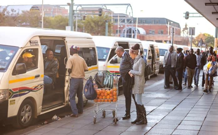 Minibus taxi.