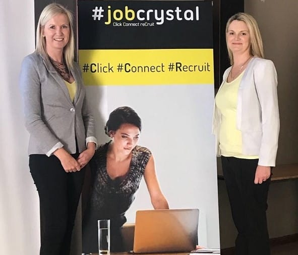Job Crystal co-founders Kelly Louw and Sasha Knott